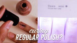 Curing regular Nail Polish Wit…