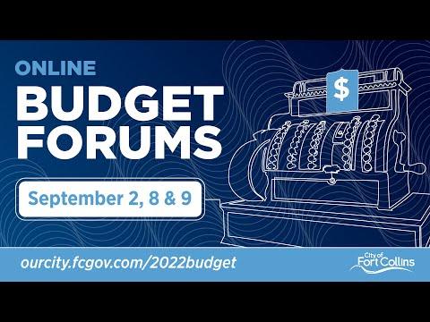 Online Budget Forum #1 (50:53)