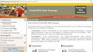 Como fazer cadastro portal Mais Emprego - maisemprego.mte.gov.br