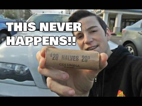 So Much Silver! | Found Coin Roll Hunting Half Dollars