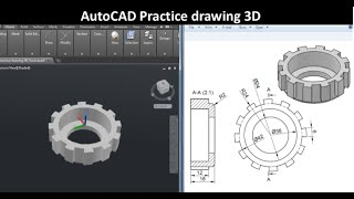 AutoCAD practice drawing 3D : SourceCAD