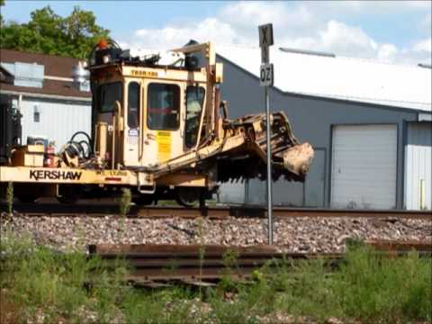 Union Pacific MoW Machines At Work In Ames, Iowa