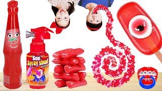 Red Food Rope Jelly Mukbang ASMR 빨간색 간식 여기 모여라~ 빨간색 먹방- 마슈토이 Mashu ToysReview
