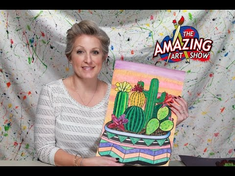 Amazing Art Show #90: Mexican Inspired Cactus Still Life