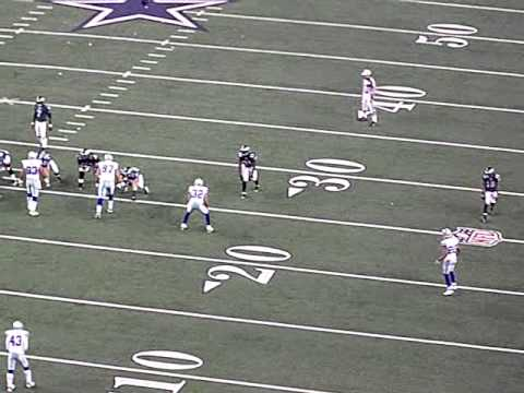 Michael Vick Flushed out of the pocket by Jay Ratliff and Demarcus Ware