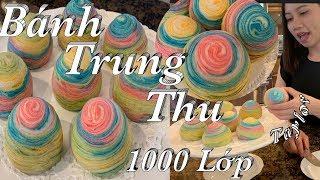 Cách làm bánh trung thu ngàn lớp xinh ngon và đẹp - Thousand layers mooncakes  -  Cuôc Sống Mỹ