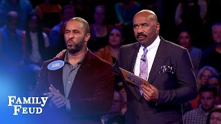 Jamil finishes HUGE for $20,000! | Family Feud