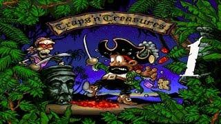 Traps 'n' Treasures (Amiga/Gameplay/Full HD)   Let´s be a Pirate   #01 Die Nadelöhr-Lagune