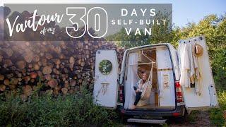 SOLO FEMALE VANLIFER | Extended vantour of my 30 day selfbuilt van