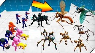 СТИКМЕНЫ ПРОТИВ НАСЕКОМЫХ - Батл Симулятор : Пауки и Стикмен  (Stickman Spider Battle Simulator)