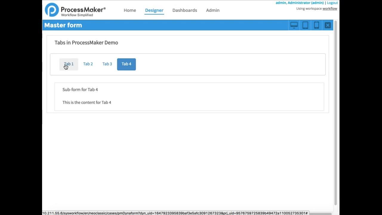 How to create tabs in ProcessMaker - dipoleDIAMOND - Medium