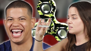 high people try fidget spinners for the first time