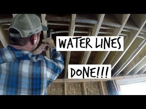 DIY Home Build Hot And Cold Water Pipes DONE! (Pex) & DIY Home Build: Hot And Cold Water Pipes DONE! (Pex) - YouTube