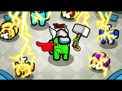 *NEW* THOR ROLE In AMONG US! (Overpowered)