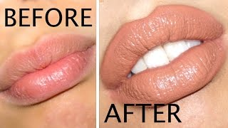 how to make your lips look bigger in 5 minutes