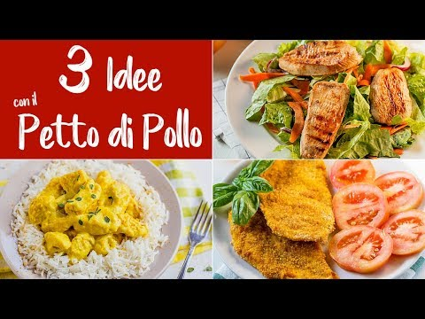 PETTO DI POLLO 3 IDEE - Pollo Al Curry, Panato Zenzero E Curcuma, Marinato Cajun