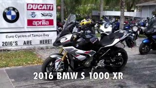 2016 BMW S 1000 XR Light White / Granite Grey / Racing Red at Euro Cycles of Tampa Bay