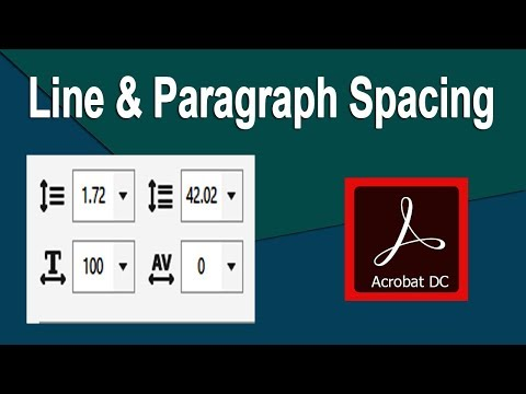 How to Increase or decrease Line and Paragraph Spacing in acrobat pdf dc pro
