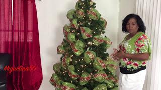 Arbol de Navidad con Cintas y Mallas, 2017-2018🎄🎄🎄