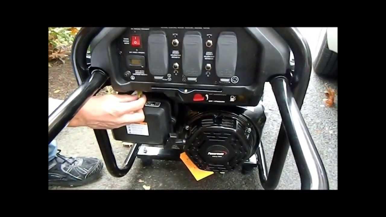 How To Start Up And Prepare A Gas Generator Powermate Youtube Prime Genset Pr7500cl 6000watt