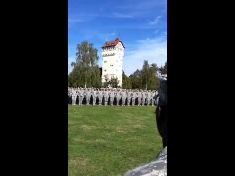 172nd Reenlistment Ceremony Grafenwoehr Germany 2012
