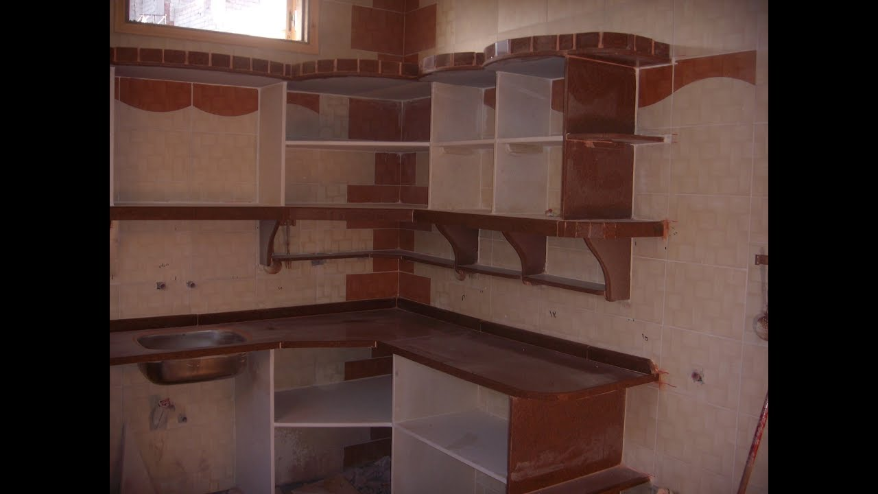 تركيب مطبخ رخام وجرانيت Installation Of Marble Kitchen And Granite Youtube