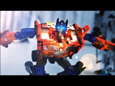 Transformers Stop motion - Prime VS Menasor 柯博文VS飛天虎