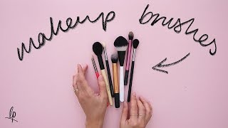 THE ONLY MAKEUP BRUSHES YOU NEED | Lily Pebbles