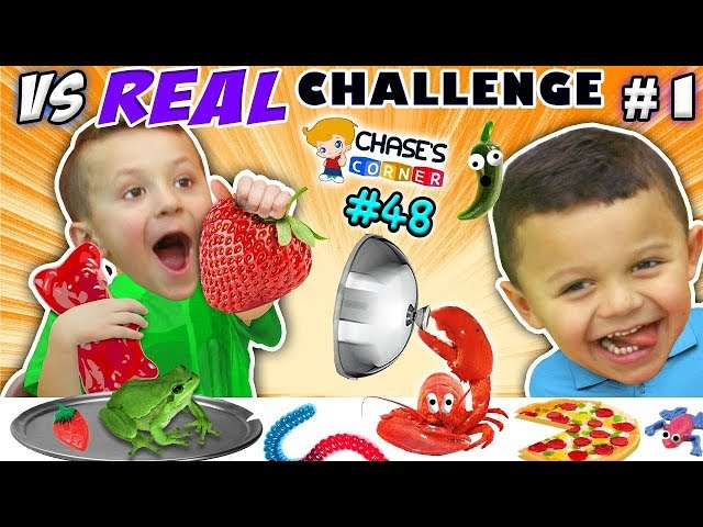 Chases Corner: Gummy vs Real (#48) | DOH MUCH FUN