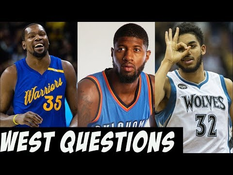 The Big Question For Every NBA Western Conference Team in 2017 - 2018