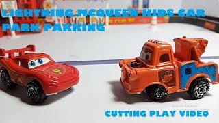 Lightning mcqueen kids car park parking garage