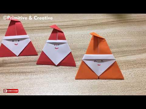 DIY Origami Santa Claus | Paper Santa Claus Crafts
