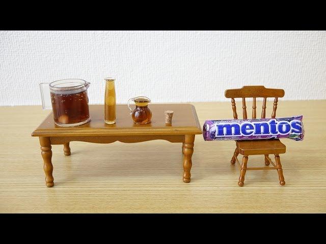 Mini coke and mentos ミニチュアコーラメントス