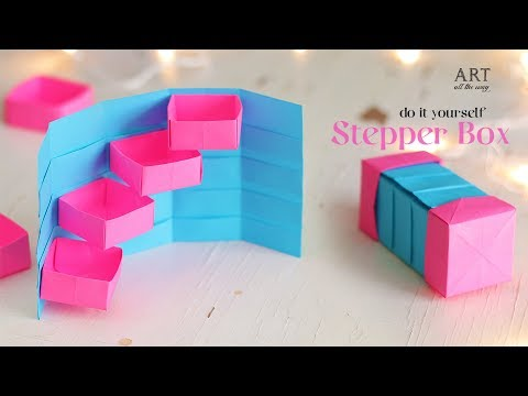 DIY Stepper Box | Paper Craft | Secret Box