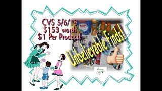 CVS 5/6/18 Coupon Haul - Unbelievable Finds! $153 Worth, $1 Per Product!