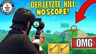 LETZTER KILL mit SNIPER NOSCOPE! (Fortnite Battle Royale Deutsch)
