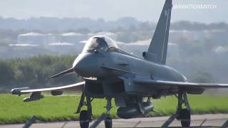 *DEAFENING* Ground Shaking Departure and Arrival of RAF Typhoon at Liverpool Airport!