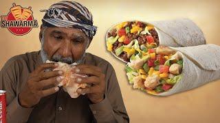 Tribal People Try Arabian Shawarma
