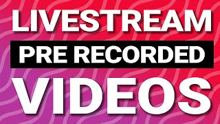 Livestream pre recorded videos to YouTube and Facebook - No software required! screenshot 5