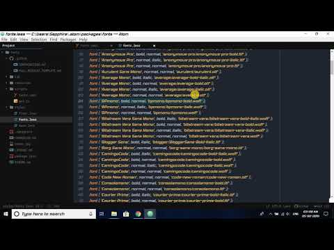 Changing Atom Text Editor Font Using External Downloaded .ttf Font File