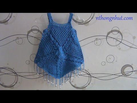 Hướng dẫn móc áo len: áo hai dây