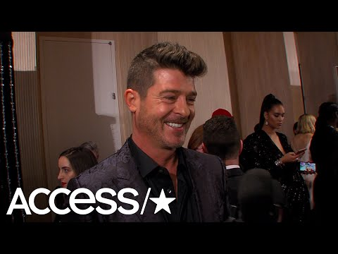 Robin Thicke Reveals His Date To The 2019 Grammys & It's Not His Pregnant Fiancé April Love Geary