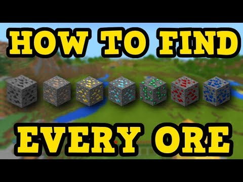 Minecraft PE / Xbox -How To Find EVERY ORE In 10 Minutes Or Less