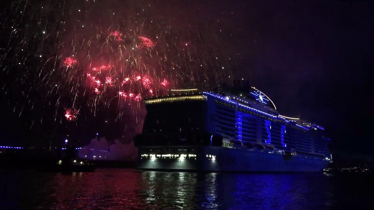 MSC Grandiosa: Taufe in Hamburg am 09.11.19 - YouTube