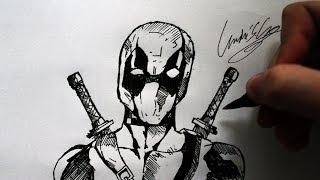 Como Desenhar o Deadpool - (How to Draw Deadpool) - SLAY DESENHOS #144
