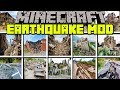 Minecraft EARTHQUAKE MOD | SURVIVE REALISTIC EARTHQUAKES IN A CITY! | Modded Mini-Game (Education)