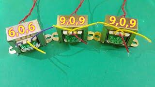 How to Build 6v,9v,12,18,24,......48volt (using transformer)