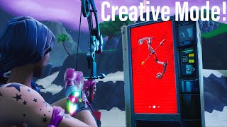 Get NEW *BOOM BOW* in a VENDING MACHINE GLITCH in FORTNITE CREATIVE!!! V8.20 / V8.21 XBOX/PS4/PC
