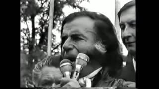 "Menem: ""Ferrocarriles Argentinos seguirán siendo del Estado"" (Laguna Paiva, 1989)"