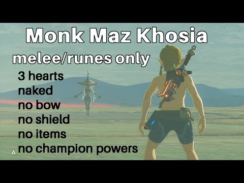 Zelda: Fighting Monk Maz Koshia Naked With Only 3 Hearts And Melee/runes